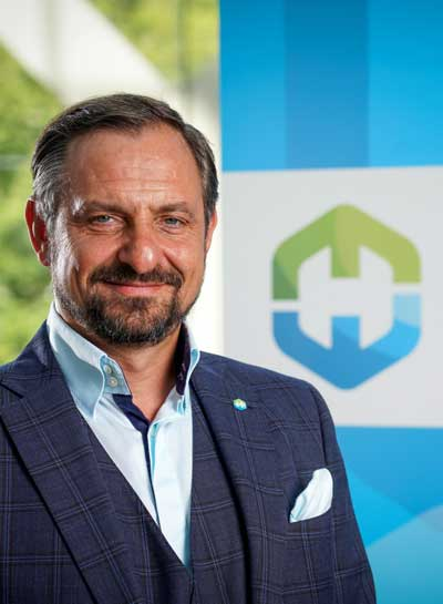 Airtec 2021 - Jorgo Chazimarkakis, Secretary General Hydrogen Europe International Trade fair, exhibition and conference for aerospace and future mobility.